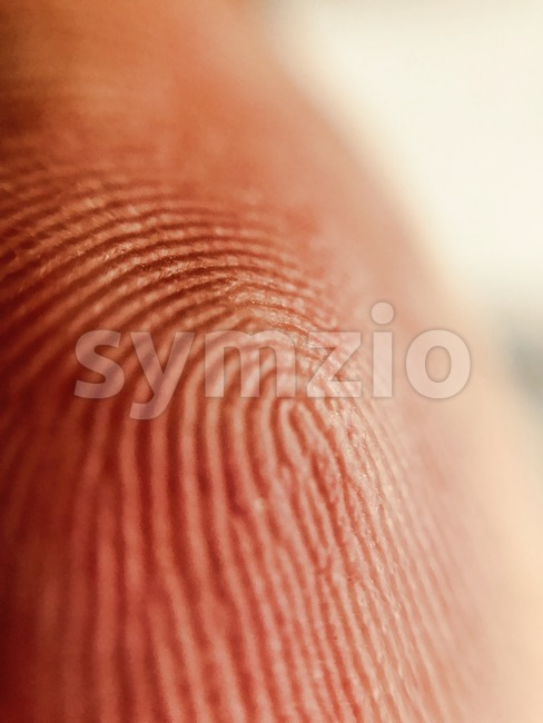 Human finger closeup Stock Photo