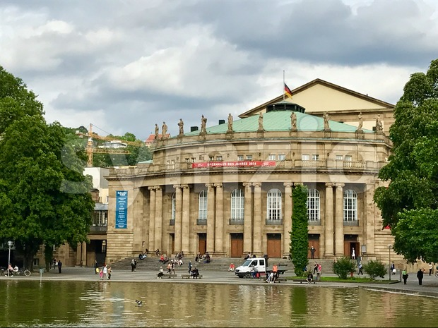 Stuttgart Opera Building Stock Photo