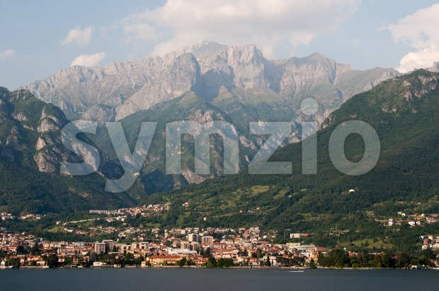Mandello De Lario At Lake Como Stock Photo