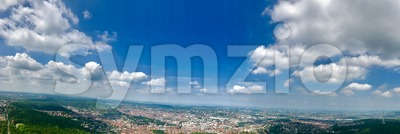 Panoramic view of Stuttgart, Germany Stock Photo