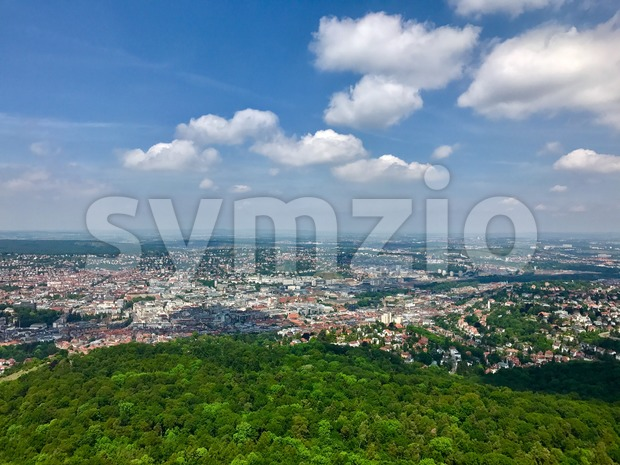 View of the city of Stuttgart, Germany Stock Photo