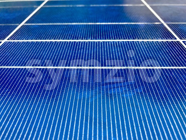 Closeup of Solar Panels Stock Photo