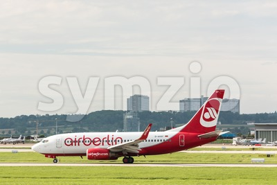 AirBerlin plane at Stuttgart airport Stock Photo
