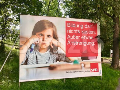 SPD billboard for the German Parliamentary Elections Stock Photo