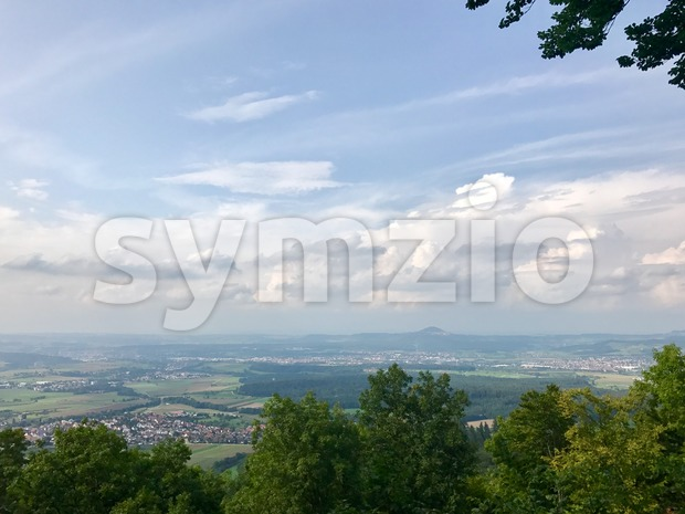 Panoramic view of the Swabian Alb (the smaller Alps) Stock Photo