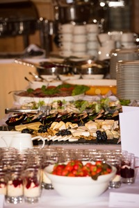 Food buffet in a restaurant during a festive event Stock Photo