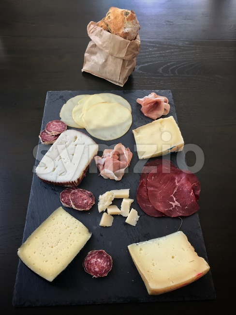 Italian antipasti snacks Stock Photo