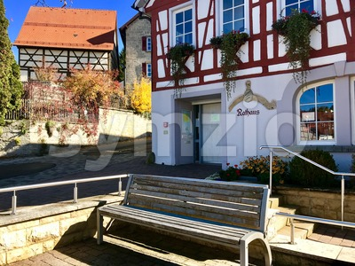 Townhall of Erpfingen in the Swabian Alb, Germany Stock Photo