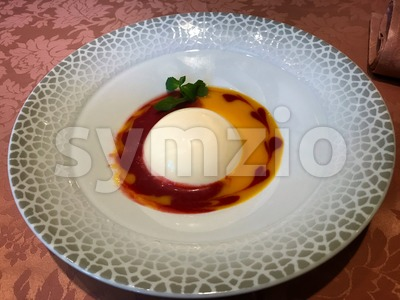 Sweet Panna cotta for dessert Stock Photo