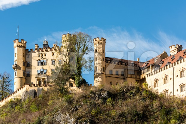 Hohenschwangau Castle in Bavaria, Germany Stock Photo
