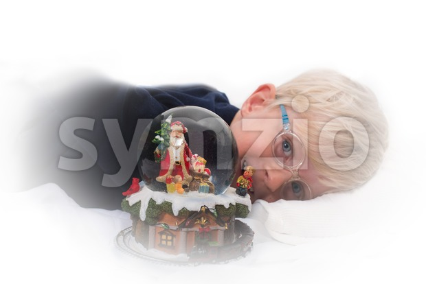 Waiting for Santa Claus Stock Photo