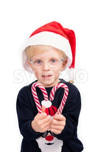 Boy Loves Christmas Stock Photo