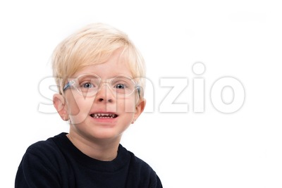 Handsome four year old boy portrait Stock Photo