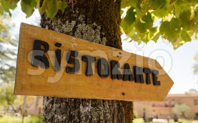Italian Ristorante Sign Stock Photo
