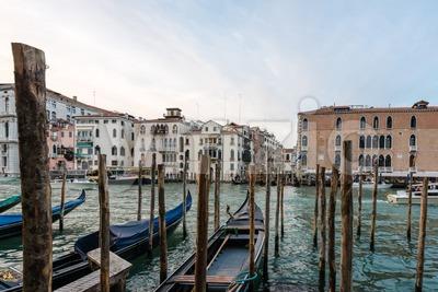 Venice with famous gondolas Stock Photo