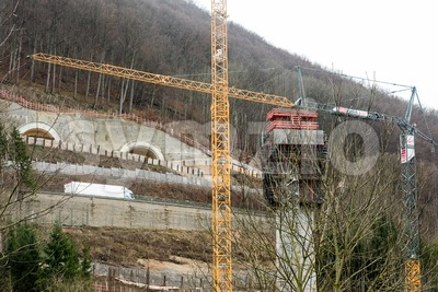 New tunnel construction - Stuttgart 21, Aichelberg Stock Photo