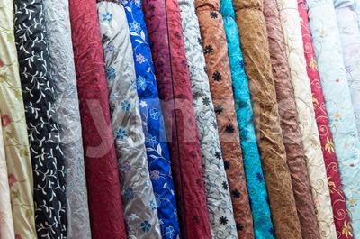 Fabric Bolts Stock Photo