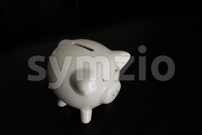 Piggy bank with room for your text Stock Photo