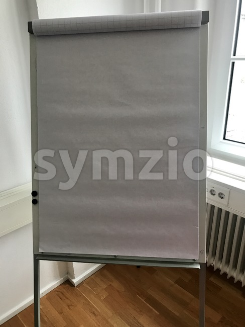 Blank flip chart in the office Stock Photo
