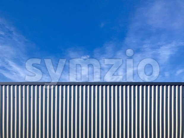 Modern iron warehouse front Stock Photo