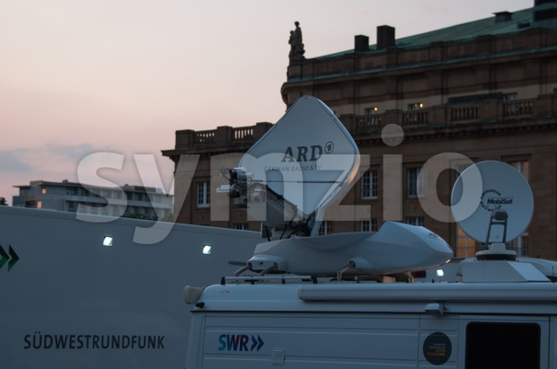 Broadcast Truck of SWR in Stuttgart, Germany Stock Photo