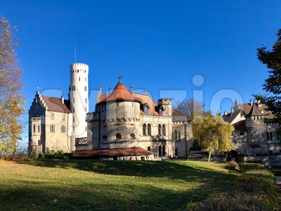 Lichtenstein Castle in the Swabian Jura Stock Photo