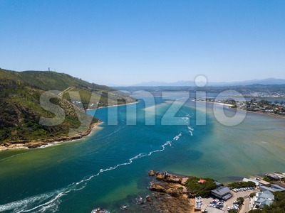 Aerial photo of Knysna in South Africa Stock Photo