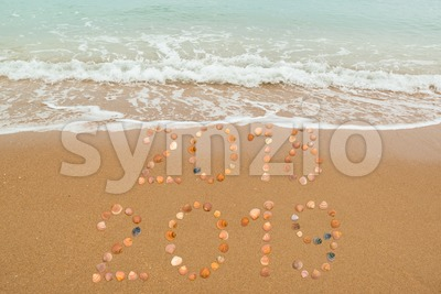 Welcome 2019 , good bye 2018 Stock Photo