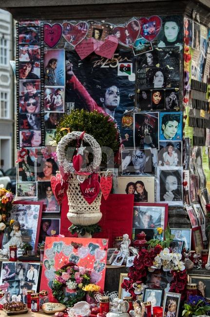 Michael Jackson Memorial in Munich Stock Photo