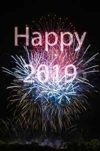 Happy New Year 2019 Stock Photo