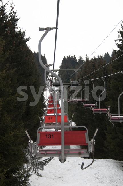 Skilift in Montafon Stock Photo