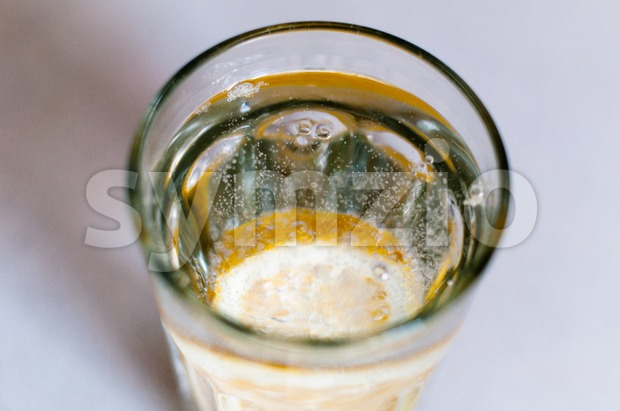 mineral water and lemon Stock Photo
