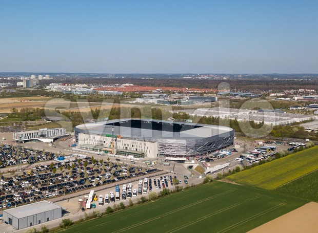 WWK arena - the official football stadium of FC Augsburg Stock Photo