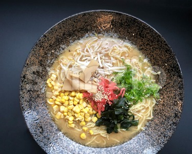 Japanese ramen soup Stock Photo
