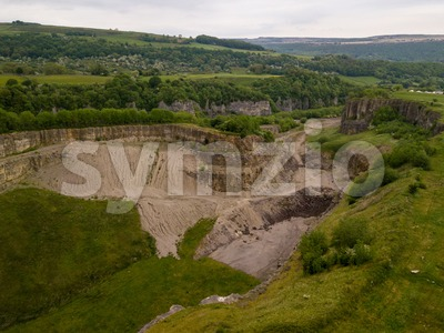 former limestone quarry in the UK Stock Photo