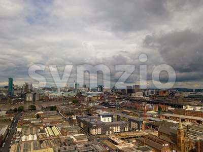 aerial view of Birmingham Stock Photo
