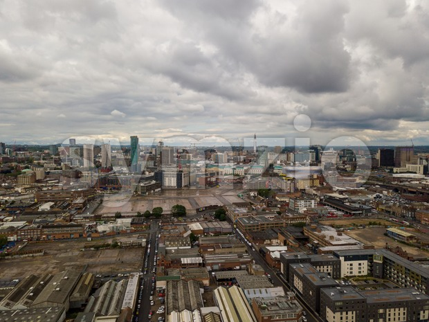 aerial view of Birmingham Stock Photo