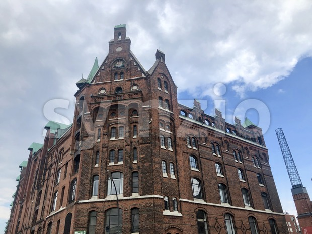 Beautiful building in the old warehouse district (Speicherstadt) in Hamburg Stock Photo