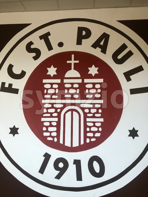 FC St. Pauli hand painted logo Stock Photo