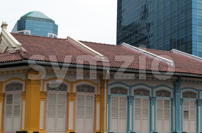Singapore - old and new Stock Photo