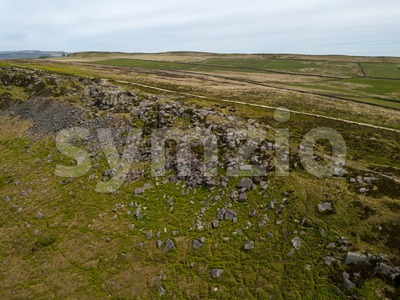 Aerial view on Curbar Edge Stock Photo