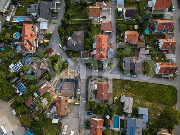 Aerial view of traditional village in Germany. Stock Photo