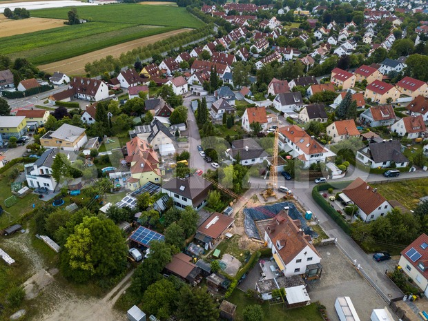 Aerial view of traditional village in Germany Stock Photo