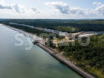 Aerial view on Prora, a massive project built by the Nazi-Regime Stock Photo