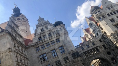 Impressive New Townhall of Leipzig Stock Photo