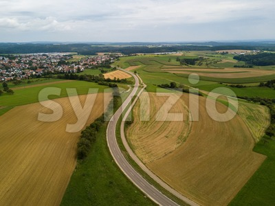 Aerial view towards the municipality of Emmingen-Liptingen Stock Photo