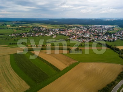 Aerial view on the municipality of Emmingen-Liptingen Stock Photo