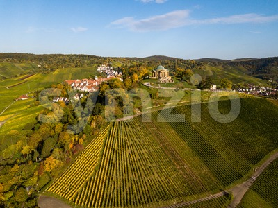 Aerial of the Grave Chapel (Grabkapelle) on Rotenberg Stock Photo