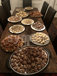 Traditional homemade German Christmas cookies Stock Photo