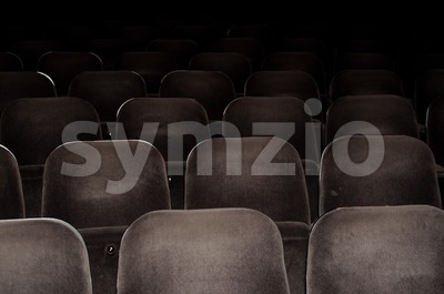 Cinema chairs Stock Photo